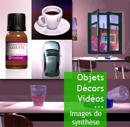 Objets, décors, animations - Images de synthèse
