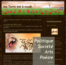 ma Terre est à nous - Politique, société, Arts, poésie... Le blog