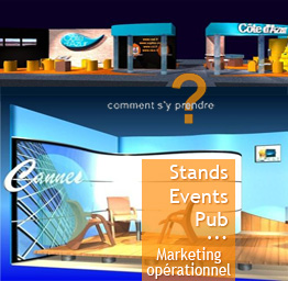 Stands, évènements, publicité - Marketing opérationnel